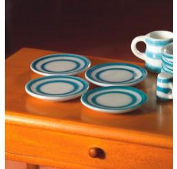 bordjes blauw per 4