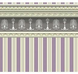 Streepbehang violet/blauw
