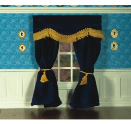 Navy Blue Velvet Curtains