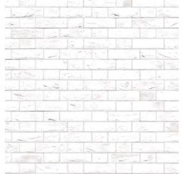 Witte muurstenen met relief, vlaams verband