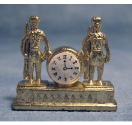 Gouden klok met soldaten