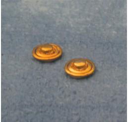 Ronde deurbellen, 2 stuks