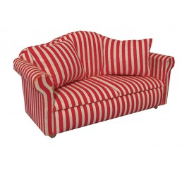Sofa, gestreept, 2-zits