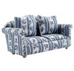 Sofa, blauw motief