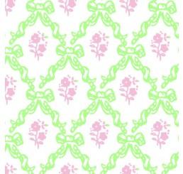Poppenhuis behang Melissa, roze en sage