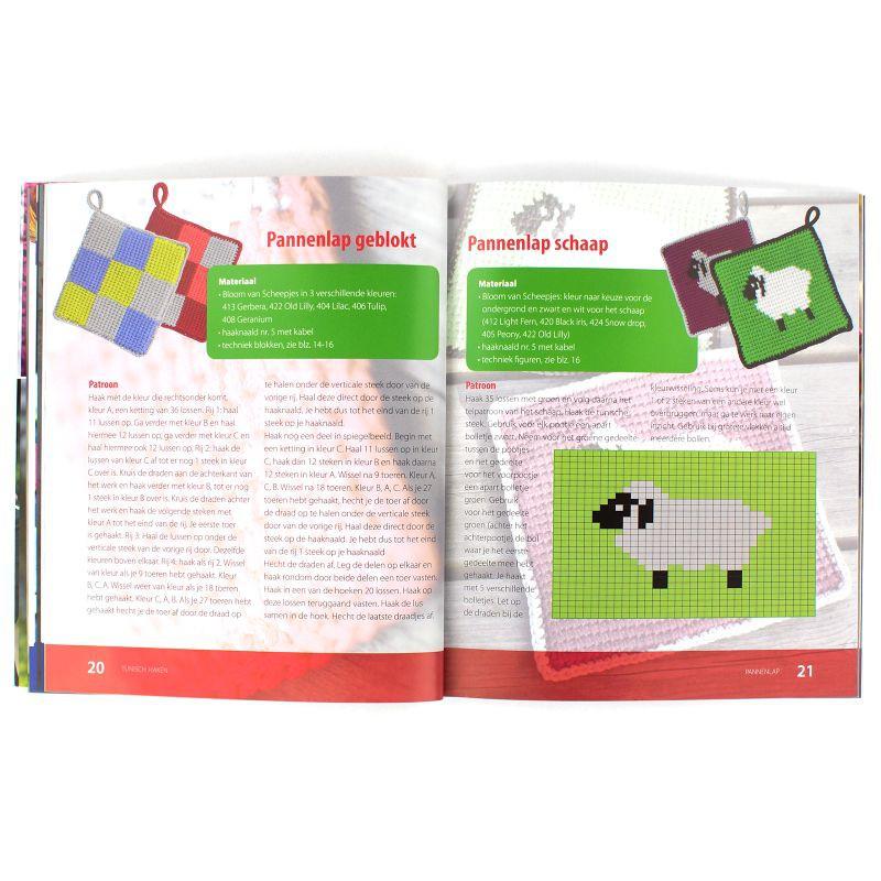 Boek Tunisch Haken Hobbyboutique Monique