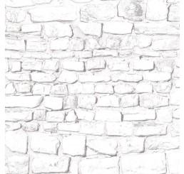 Whitewashed stenen muur
