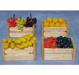 vruchten in krat, 4 stuks