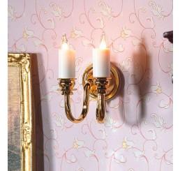 wandlamp dubbel kaarsmodel
