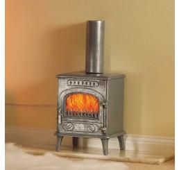 Brandende hout kachel