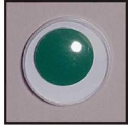 2 plak wiebeloogjes groen