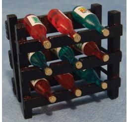 Wijnrek met 9 flessen