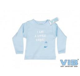 T-Shirt 'I AM A LITTLE REBEL!' Blauw
