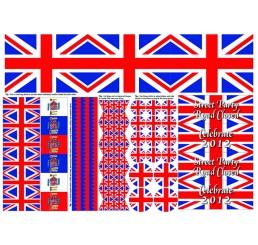 Engelse vlag, uitknippen