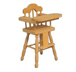 Kinderstoel, blank hout