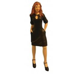 Moderne vrouw Zwart Dress