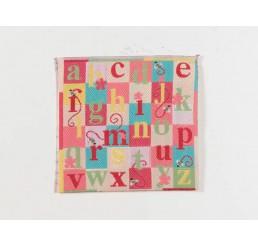 Roze alfabet kleed