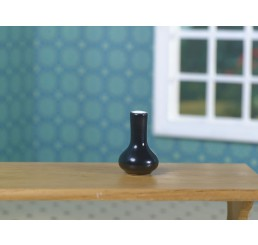 Zwarte moderne vaas
