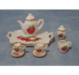 Aardbei thee serviesje