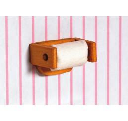 Toiletrol op houten houder