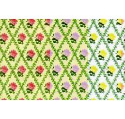 Behang Paars/Cream