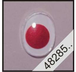 2 ovale plak wiebeloogjes rood