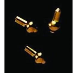 3mm messing knopjes 4 stuks