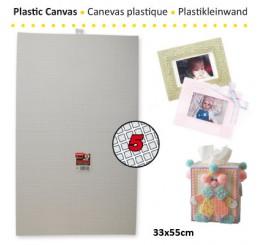 Plastic stramien 33 x 55 cm, 5 mesh
