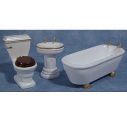 3-delige badkamer set hout