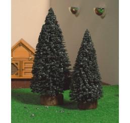 Kerstbomen, 2 stuks 10 en 12 cm