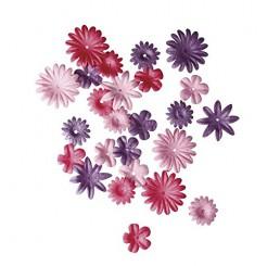 Papieren bloemen roze