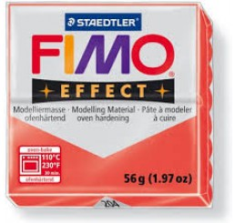 Fimo effect transparant rood