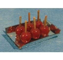 Blad met geglazuurde appels