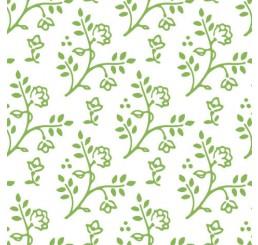 Poppenhuis behang Julia, wit met groen