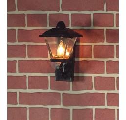 zwarte wandlamp buiten model