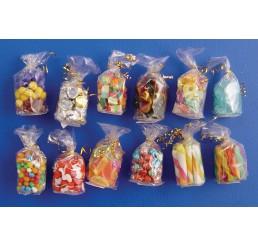 Zakjes met snoepgoed, 12 stuks