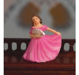 beeldje in ballerina met roze