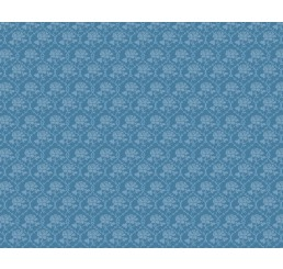 blauw bloembehang