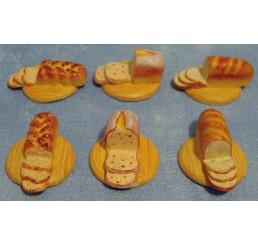 Brood op broodplank, 6 stuks