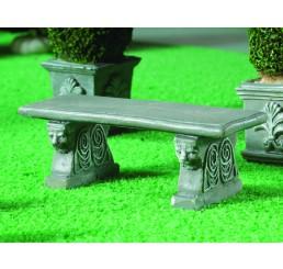 tuinbank groen grijs beton