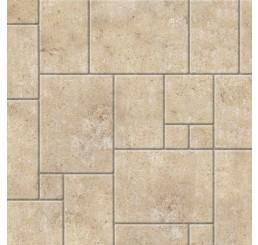 Kalkstenen random vloer met relief