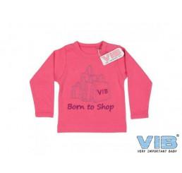T-Shirt 'Born to Shop' Paradise Pink
