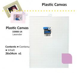 Plastic stramien 26 x 34cm lavendel, 7 mesh