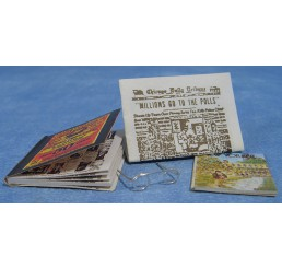 Bril met tijdschriften & Magazines