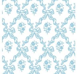 Poppenhuis behang Melissa, blauw