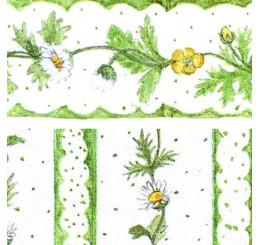 Poppenhuis behang daisy