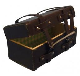 Koffer donkerbruin leer