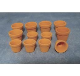 Terracotta potten, 12 stuks