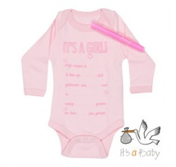 Romper-It's a girl met stift