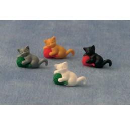 Katjes met wol, 4 stuks